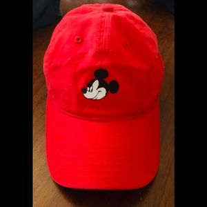 Disney Classic Mickey Mouse red baseball cap
